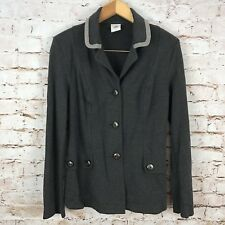 CAbi Women's Blazer Jacket Top Work Office Long Sleeve Spandex Buttons Size S