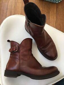ECCO Boots 38 Brown Booties