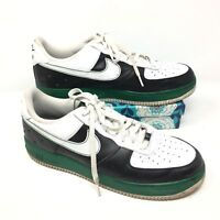 Men's Nike Air Force 1 07 Size 13 Sneakers Shoes Basketball Black White Green G7
