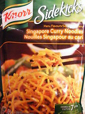 5 X KNORR SIDEKICKS - Singapore Curry Noodles - Quick & Easy Pasta - CANADA