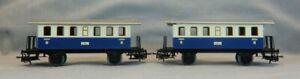 Märklin / Primex HO Scale 4020 ELB Metal Passenger Cars 2nd Class - Lot of 2