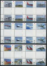 Falkland 2008 Flugzeuge Airplanes Freimarken Stegpaare Gutter Pair 1032-1043 MNH