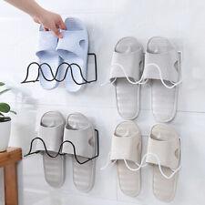 Household 2 Layer Rack Wall Hanging Storage Wrought Iron Shoe Bracket YU