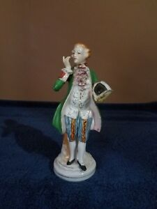 """VINTAGE COLONIAL MAN FIGURINE ~ 8"""" TALL ~ MADE IN JAPAN"""