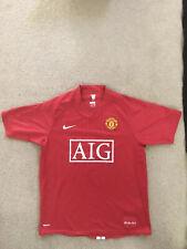 MANCHESTER UNITED 2007 2008 #7 RONALDO Football Soccer Shirt Jersey M