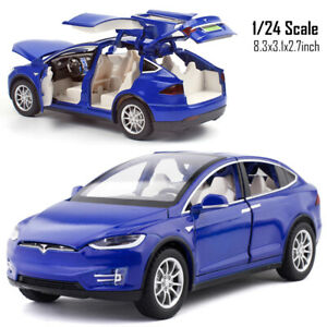 1/24 Scale Tesla Model X 90D Alloy Model Car Collection Sound Light Kids Toy