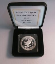 More details for 2017 athenian owl .999 silver bunc niue $2 coin in box with coa