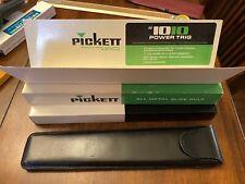 Vintage PICKETT Slide Rule Model No. 1010 T Trig with Black Leather Case