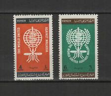YEMEN 2 timbres neufs 1962 éradication du paludisme  /T3011