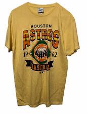 Houston Astros 47 Brand Vintage Tubular Retro Yellow MLB T-Shirt Mens Medium