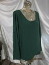 FASHION!>LONG SLEEVE GREEN OVER SIZED TOP