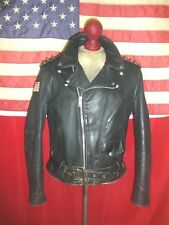 Vintage 60's  SCHOTT PERFECTO  Motorcycle Brando Cruiser Leather Jacket .Size 42