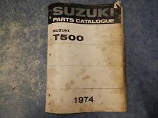 1974 SUZUKI T500 TITAN PARTS CATALOGUE MANUAL I II R K J L 74 T 500