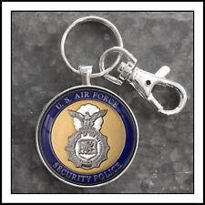 US Air Force Security Police SP Insignia Photo Keychain 🎁👮