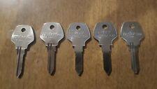 Lot of 5 Harley Davidson Taylor X93 Key Blanks Locksmith L27