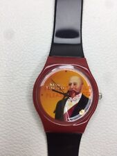 Vintage King Edward Black Red Colourway Feature Analogue Wristwatch