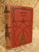 Poems By John G. Whittier Decorated Binding Antique Poetry Book Classics