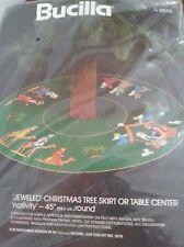 Bucilla Nativity Jeweled Christmas Tree Skirt KIt #3576 NIP NEW