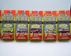 """5X """"MATCHBOX"""" PREMIERE **FIRE ENGINE COLLECTION SERIES 7** with JEEP MOC"""