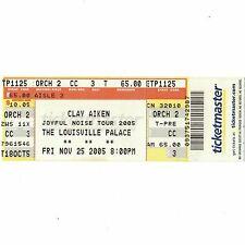 Clay Aiken Full Concert Ticket Stub Louisville 11/25/05 Joyful Noise Tour Rare