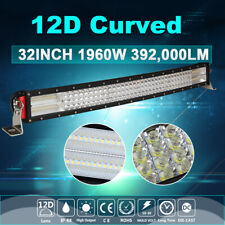 32 Inch Curved LED Light Bar 4-Row Combo Beam Offroad Truck 4WD Driving Fog Lamp