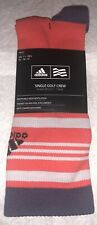 Adidas Tour Crew Golf Socks 1 Pair Men 7-10.5 Stripe Red Purple Compression NEW!