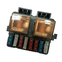 Universal Auto Boat Truck DC 12V 2 Way Relay Fuse Box Holder with 8 Blade