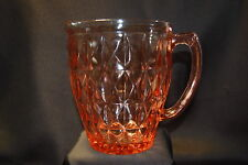 Jeanette Glass Windsor Pink Depression Glass Pitcher