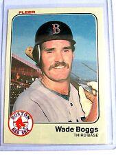 WADE BOGGS 1983 RED SOX • THIRD BASE NICE CARD FLEER #179 BC#65 JM