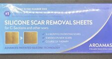 Aroamas Professional Silicone Scar Removal Sheets Adhesive Fabric Strips 4 pack