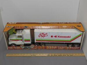 Vintage NYLINT Golden Eagle 18 wheeler Semi Truck Trailer KAWASAKI ATV NIB rare!
