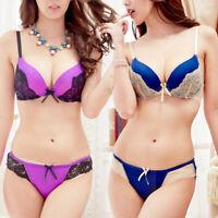 Lace Women Bra Set Panties Embroidery Comfortable Underwear Push Up Bra Set