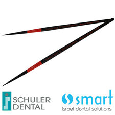 Lot x 2 Schuler Dental Lab ceramic brush premium Synthetic hair black Germany 00