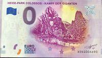 BILLET 0 EURO HEIDE PARK COLOSSOS KAMPF DER GIGANTEN ALLEMAGNE 2019-1 N° DIVERS