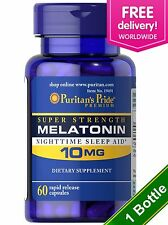 Puritan's Pride Melatonin 10 mg Night Time Sleep Aid 60 Capsule - USA Made