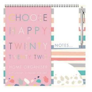 2022 Family Organiser Calendar with Pad, Pocket and Pen - Choose Happy