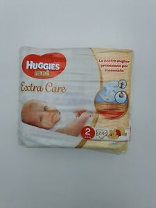 6 pacchi Huggies BEBE' Extra Care Bebe - MISURA  2 (3-6 kg)