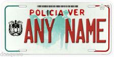 Veracruz Policia Mexico Any Name Number Novelty Auto Car License Plate C04