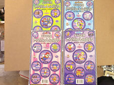SUPER MARIO WORLD POGS CARDED 4x10 SHEETS ALL 4 SERIES  COMPLETE SET OF (40)