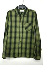 Ovadia & Sons Mens Green Plaid Long Sleeve Button Down Shirt Casual Cotton L
