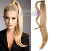 100% Real Clip-In Ponytail Human Remy Hair Extension Virgin Brazilian Hairpiece