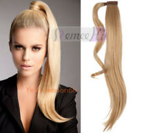 Silk Straight Clip in Wrap High Ponytail 100% Remy Human HaIr Extension 80G