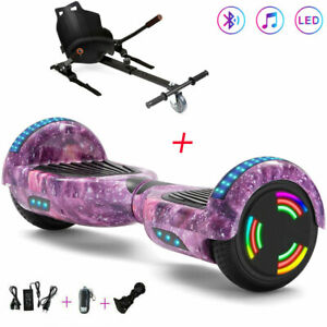 Hoverboard Galaxie Rosa 6,5 Zoll Bluetooth Kinder Elektro Scooter Mit Hoverkart