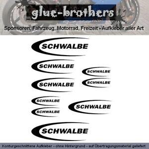 Schwalbe Aufkleber Farbauswahl Fahrrad Decal Rennrad Bike Rad Reifen Sticker