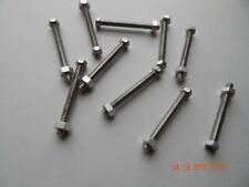 Aluminum Hex Cap Screws 14 20 X 2 12 With Nuts Full Thread 10 Pcs New