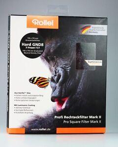 Rollei Profi Rechteckfilter 150x170mm Grauverlaufsfilter Hard GND8 3 Stopps/0,9