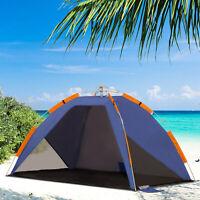 Outsunny Strandmuschel Strandzelt Pop up Campingzelt Tragetasche 2-3 Personen