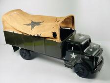 Vintage Marx Lumar US Army Military Troop Transport Pressed Steel Carrier Truck