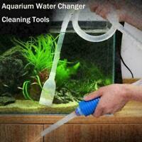 Aquarium Siphon Gravel Cleaner Fish Safe Tank Vacuum Water Change L8L2 U2T9 Q2Y2
