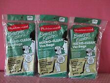 12 New Rubbermaid Micro-Clean 2 Ply Vacuum Bags Style U Eureka Bravo Powerline